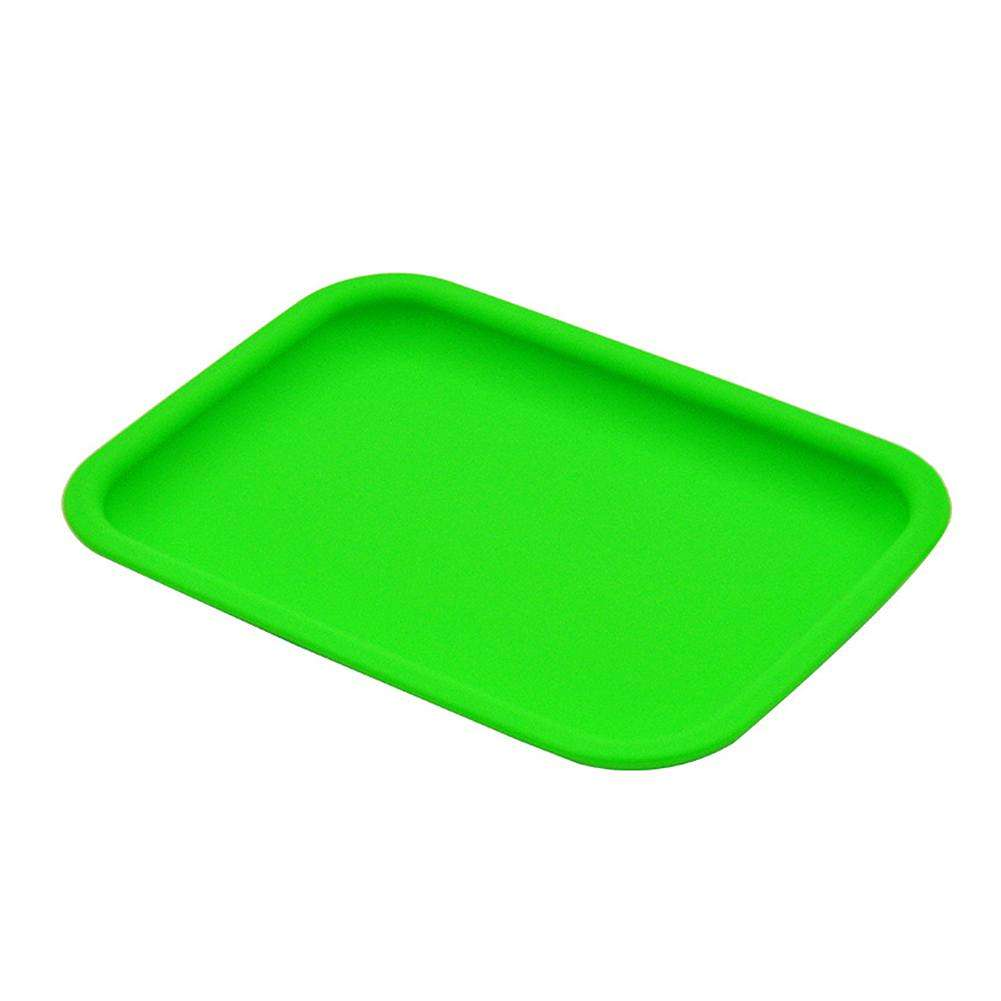 BANDEJA DE ROLAMENTO HERBAL DE SILICONE GREEN smokeshop pontocom